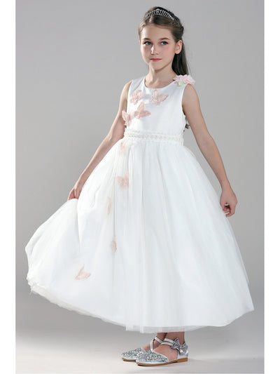 Girls Butterfly Dress  whtfl alt1