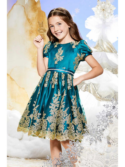 Girls Cameo Dress  gre alt1