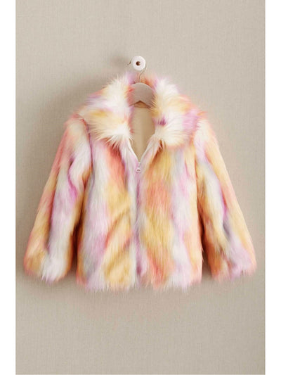 Girls Candy Faux Fur Coat