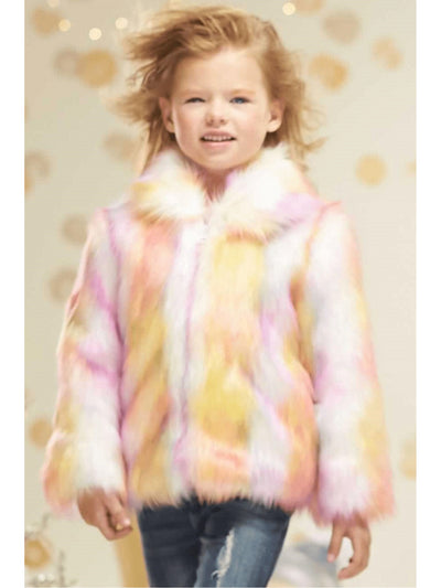 Girls Candy Faux Fur Coat  cpi alt1