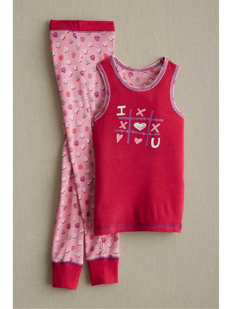 Girls Candy Hearts Pj's