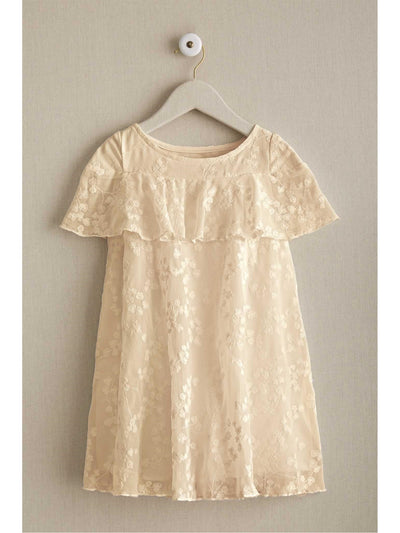 Girls Capelet Dress  whi 1