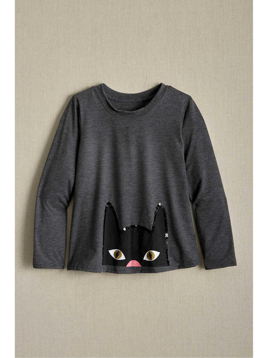 Girls Cat Eyes Swing Top