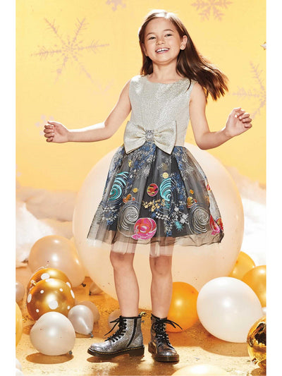 Girls Celestial Bow Dress  gol alt1