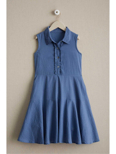 Girls Chambray Shirt Dress  chb alt1
