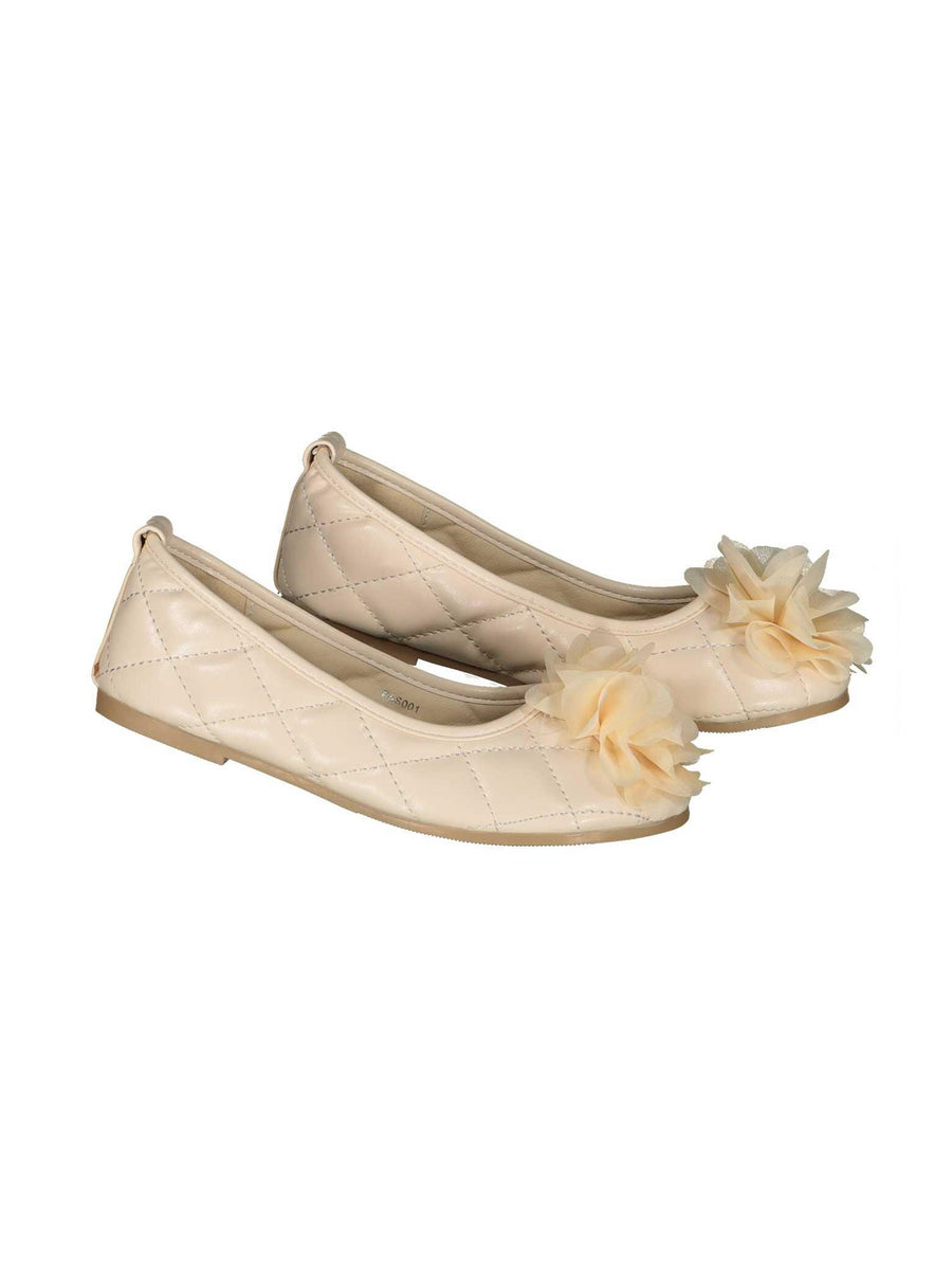 Girls Chiffon Flower Flats