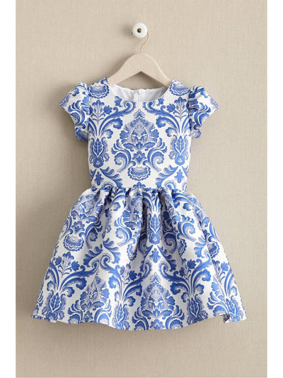 Girls China Blue Dress