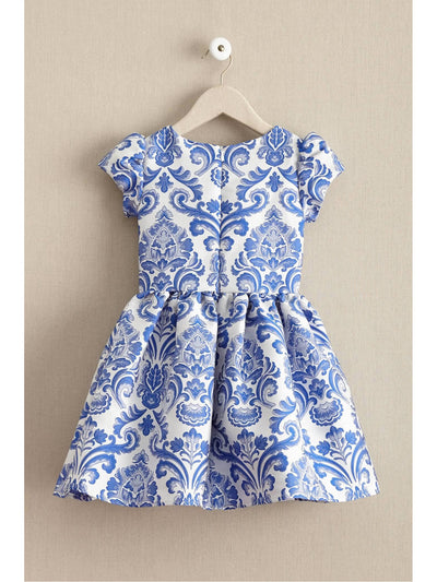 Girls China Blue Dress  blu alt1