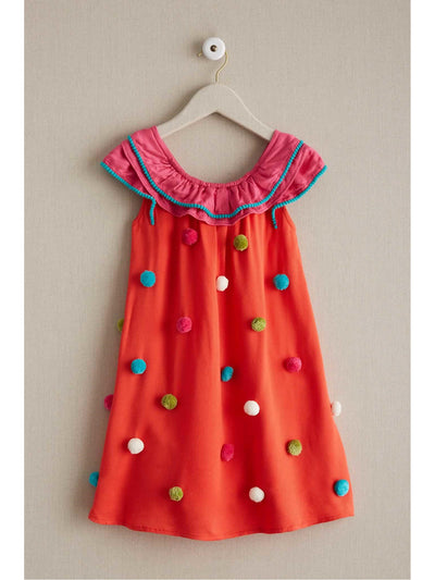 Girls Confetti Pompom Dress