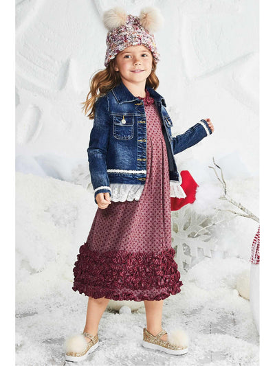 Girls Confetti Swing Dress  bur alt1