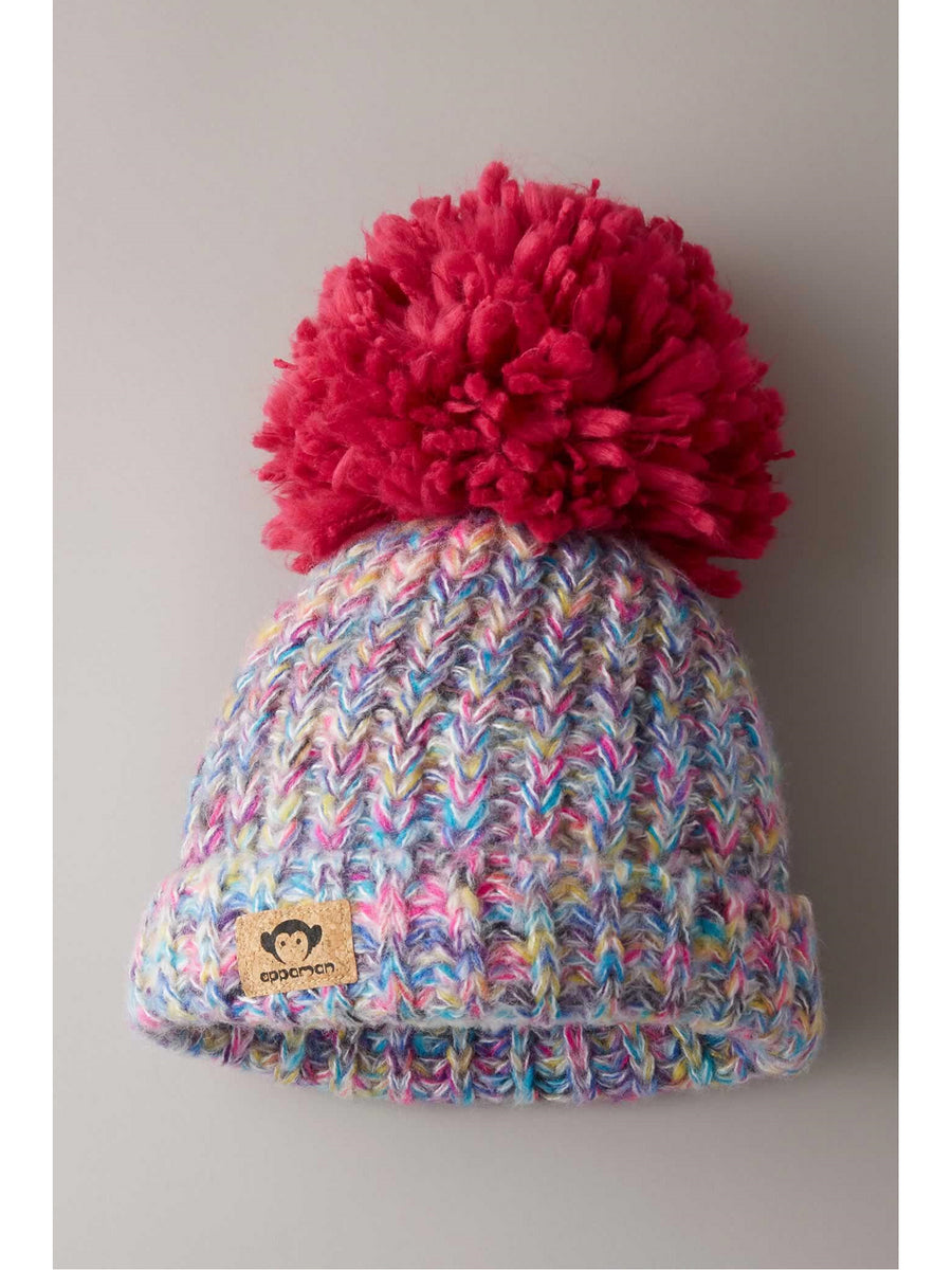 Girls Cozy Pompom Beanie