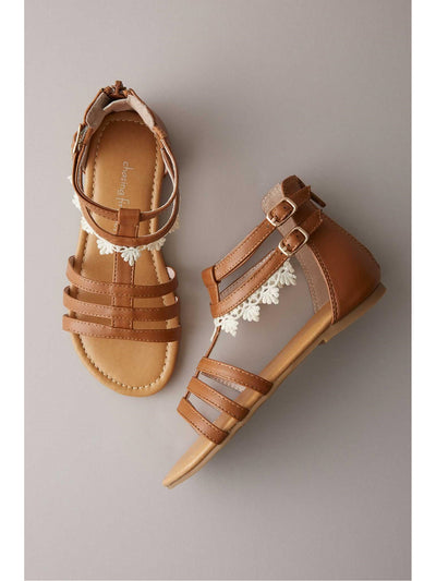 Girls Crochet Lace Gladiator Sandals