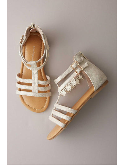 Girls Crochet Lace Gladiator Sandals  gol 1