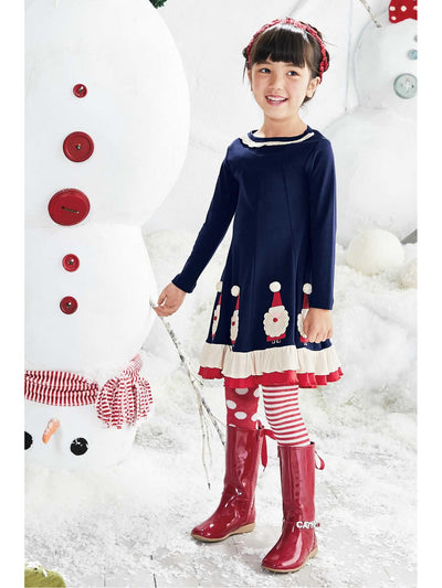 Girls Crochet Santa Dress  nav alt1