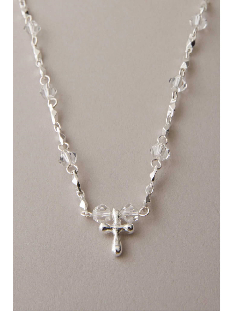 Girls Crystal Cross Necklace