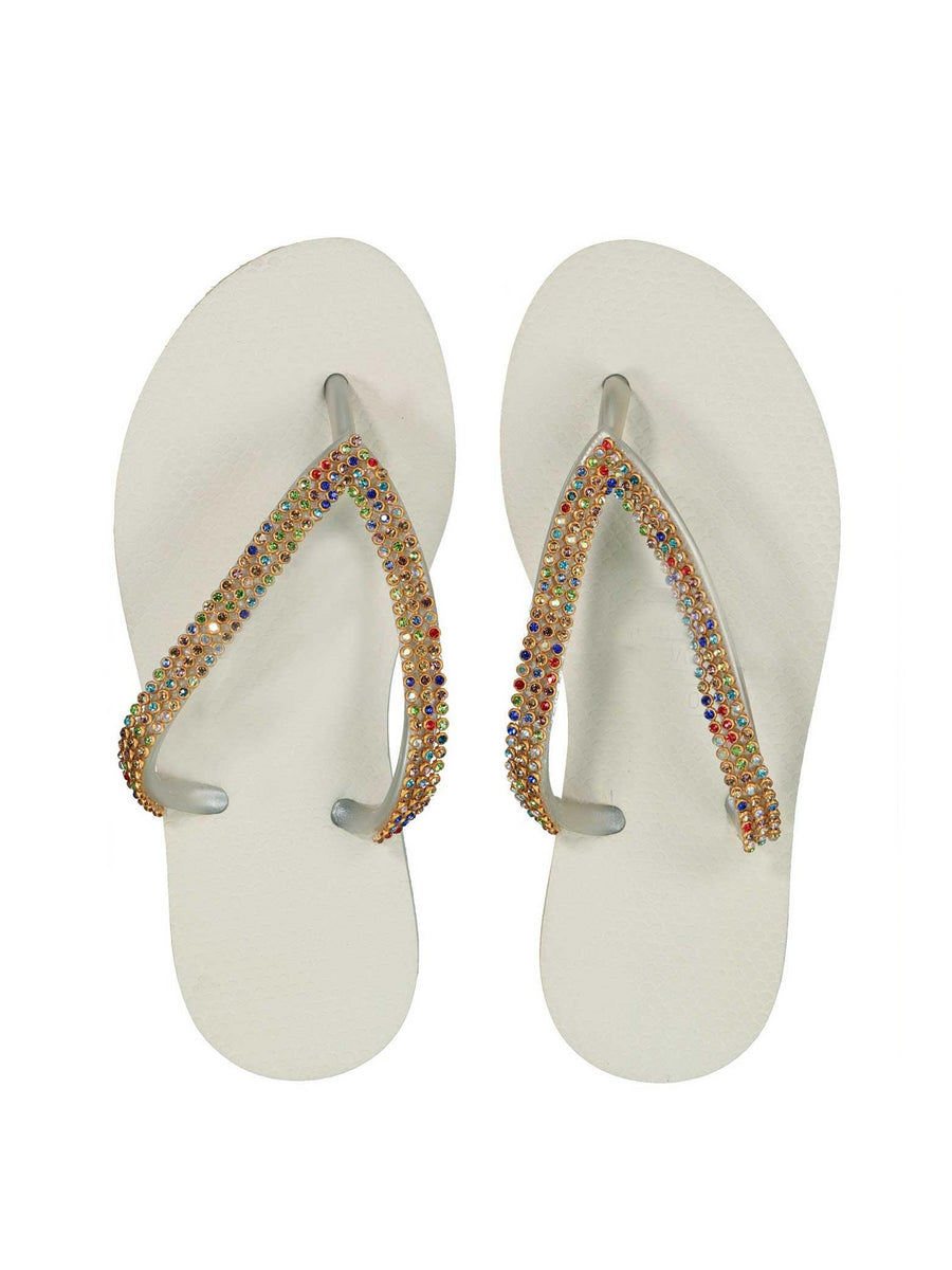 Girls Crystal Flip-Flops
