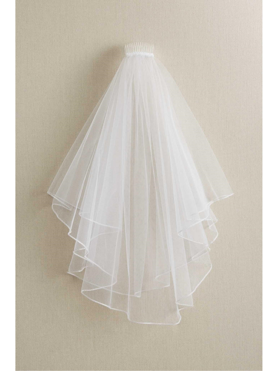 Girls Crystal Trim Veil