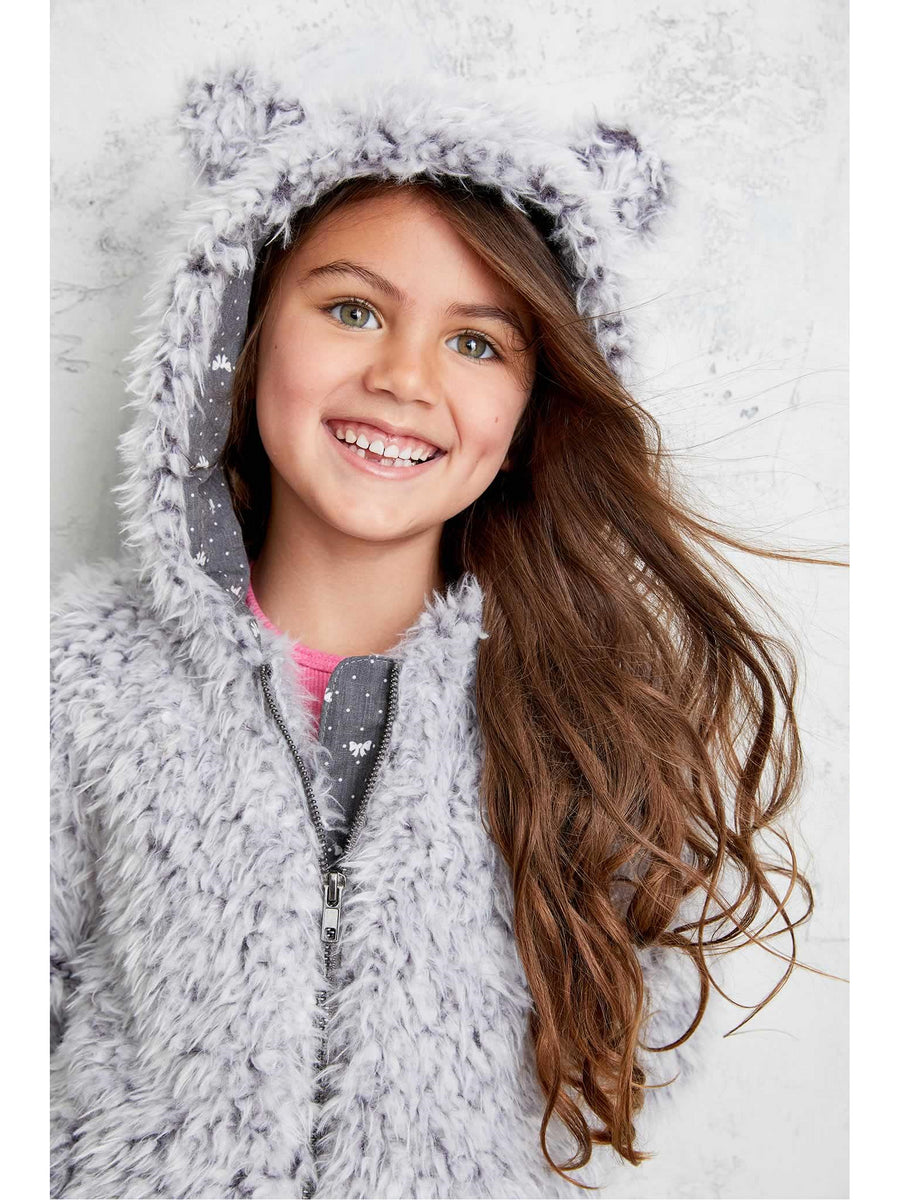 Girls Cuddly Bear Coat