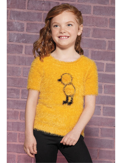 Girls Cute Chick Fuzzy Sweater  ylt alt1