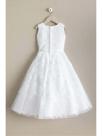 Girls Cutwork Floral Lace Dress  whi alt3