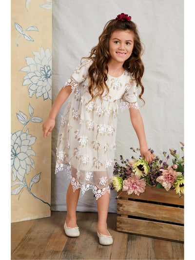 Girls Dainty Lace Dress