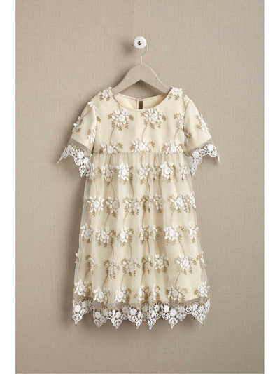 Girls Dainty Lace Dress  ivo alt1
