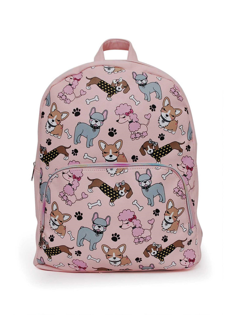 Girls Darling Doggies Backpack