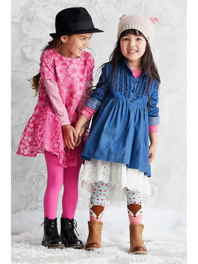 Girls Denim & Lace Dress  den alt3