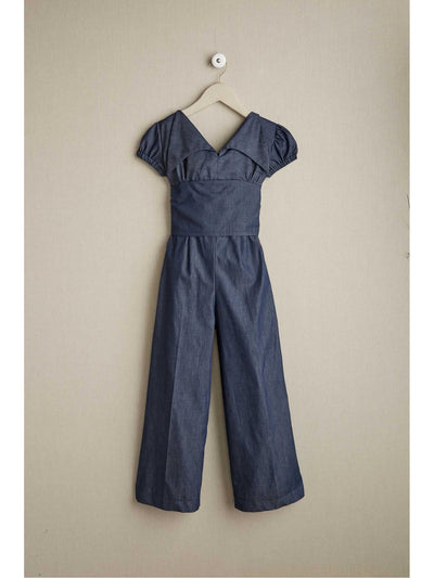 Girls Denim Jumpsuit
