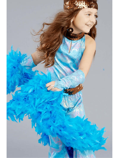 Girls Disco Queen Glovelets  blu alt1