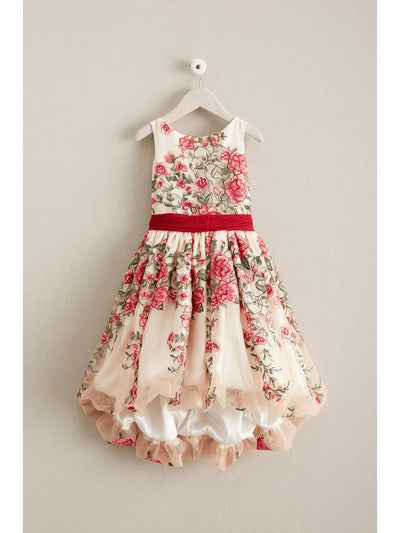 Girls Disney Princess Belle Embroidered Roses Dress  ivo 1