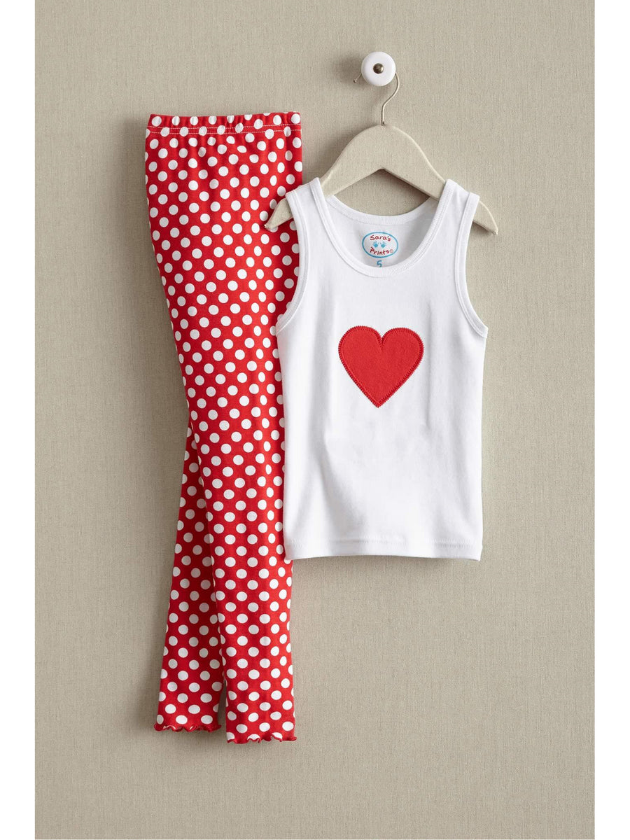 Girls Dots of Love Pj's