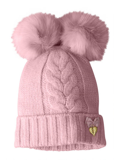 Girls Double Pompom Hat  ters 1