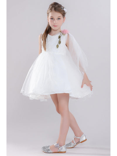 Girls Draped-Front Dress