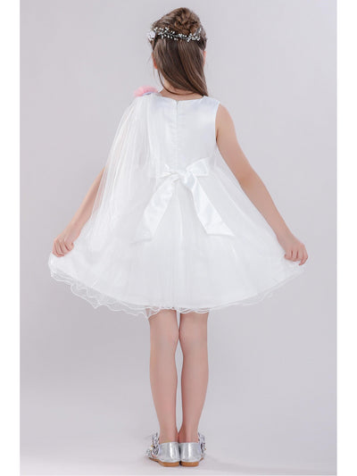 Girls Draped-Front Dress  white alt3