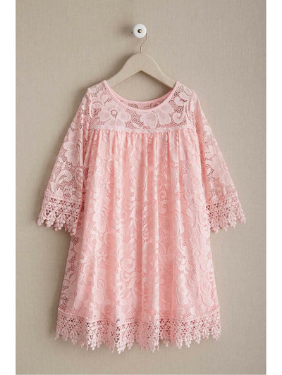 Girls Dreamy Lace Dress  aqu alt1