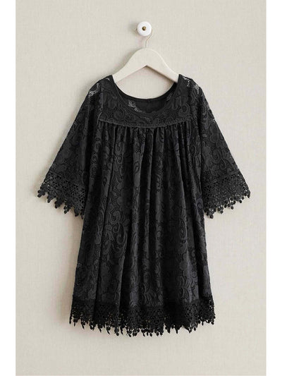 Girls Dreamy Lace Dress  bla 1