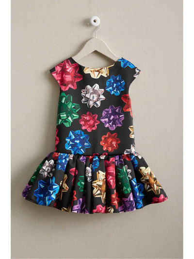 Girls Drop-Waist Presents Dress
