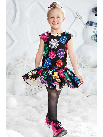 Girls Drop-Waist Presents Dress  bla alt1