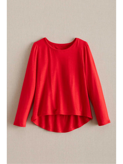 Girls Easy Day Swing Top  red 1