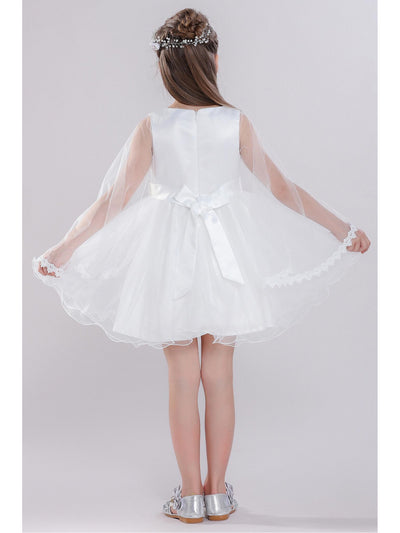 Girls Embellished Dress with Train  white alt3