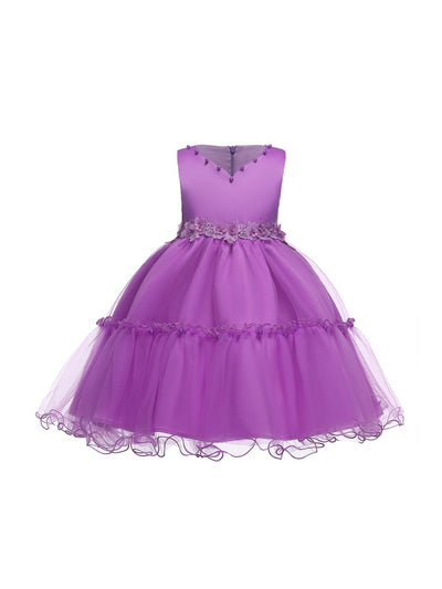 Girls Embellished-Waist Dress  pur alt1