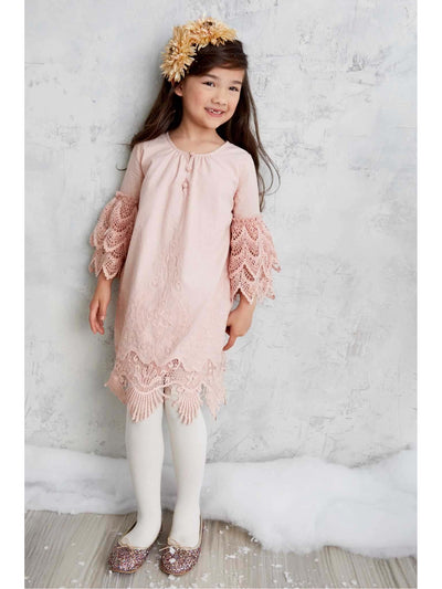 Girls Embrace Lace Dress  mau 1