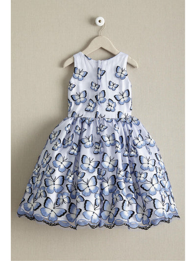 Girls Embroidered Butterflies Dress  lav alt2