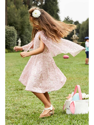 Girls Embroidered Capelet Dress  pin alt1