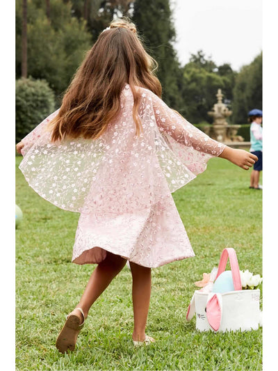 Girls Embroidered Capelet Dress  pin alt2