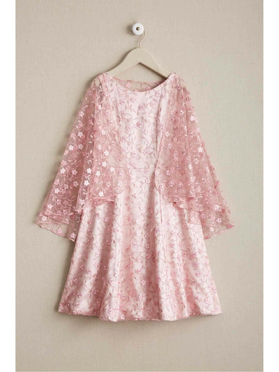Girls Embroidered Capelet Dress  pin alt3