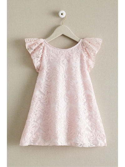 Girls Embroidered Floral Shift Dress