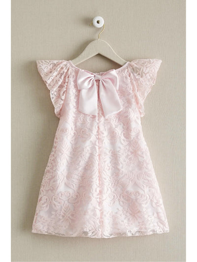 Girls Embroidered Floral Shift Dress  pin alt2