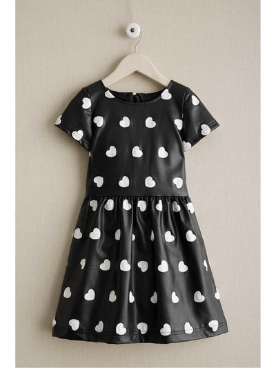 Girls Embroidered Hearts Dress